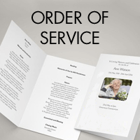 Order of Service from £1.00/booklet